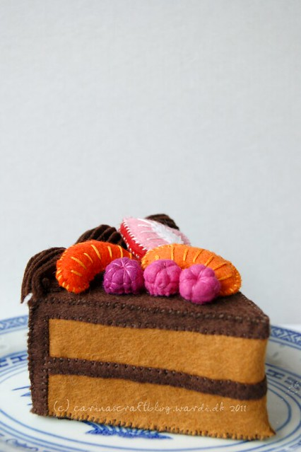 Cake slice - made using pattern in 'Big Little Felt Universe'