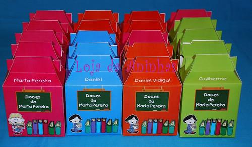 Lembranças Aniversário - Caixa de doces tema Escola by Aninhas_lisboa