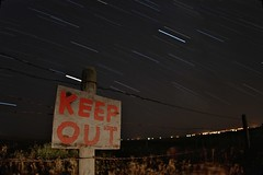 Keep Out - Star Trails (thephantomhennes) Tags: light out star paint trails keep