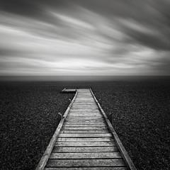 Direction (Noel Clegg) Tags: longexposure blackandwhite bw seascape black water monochrome mono blackwhite boardwalk dungeness leefilters 5dmkii