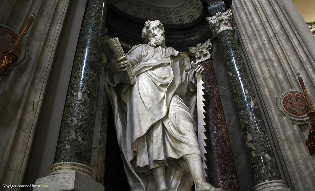 Statue de l'apôtre Saint Simon