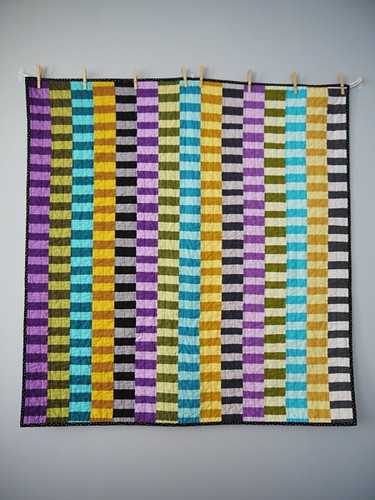 Colour strip quilt #2