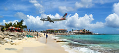 S H O R T (Maxime C-M ) Tags: usa a320 sint maarten nikon airplane approach sea people maho beach airbus caribbean spotting antilles nertherlands arrival d3200 weather aircraft aviation airport