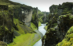 Weave (justine.jeannin) Tags: iceland canyon green black rock water river weave nature natural wild volcano travel roadtrip moss geological