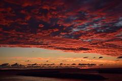 Wine-dark (marensr) Tags: sunrise port des morts deaths door lake michigan county clouds cloudy cloudscape peach blue nature weather light dawn
