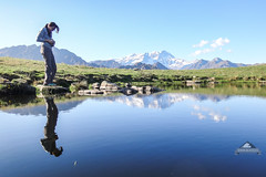 Scattando foto (blaise3d) Tags: monte rosa alpe pizzo valsesia piode lago arco alpino alpi alps quattromila riflesso reflection water high altitude pure clear sky