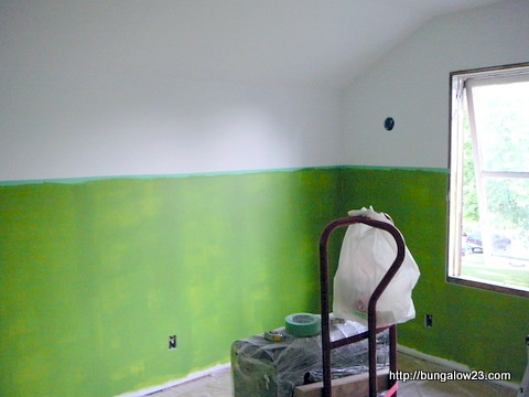 Green paint going up