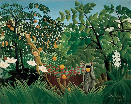 Henri Rousseau: Exotic landscape (1910) by petrus.agricola