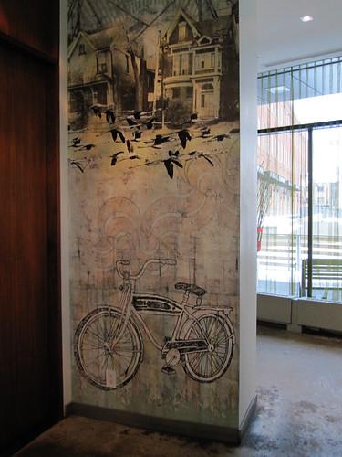 nice bike mural