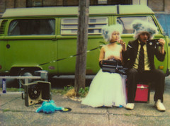 To Die For (Tanner Almon) Tags: bus green film broken brooklyn costume couple fuji mini sidewalk tape instant imagination tanner furball camcorder almon whimsical vhs volkswagon instax furballs instantfilm cheki fujiinstaxmini tanneralmon checki55 mymomreviewsmyphotos