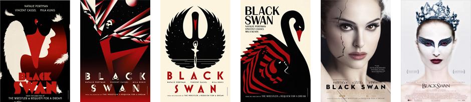 Distintos posters de la película Black Swan
