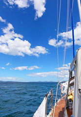 out on the water (mel cobcroft) Tags: blue water yacht australia tasmania australiaday sonycybershot orford 2011 mercurynewspaper adayinthelifeoftasmania melcobcroft melaniecobcroft