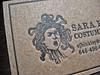 Sara Hinkley Letterpress Business Card