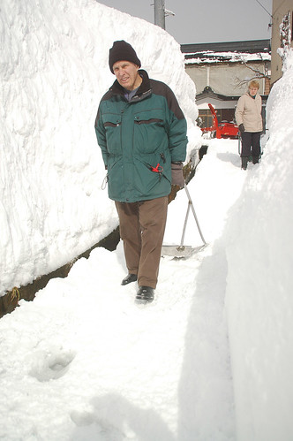 helping to shovel