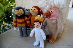 Where the Wild Things Are Amigurumi set (CraftyisCool1) Tags: crochet amigurumi wherethewildthingsare sendak craftyiscool