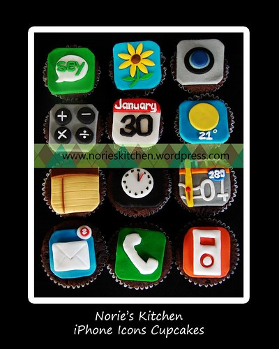 Norie's Kitchen - iPhone Icons Cupcakes
