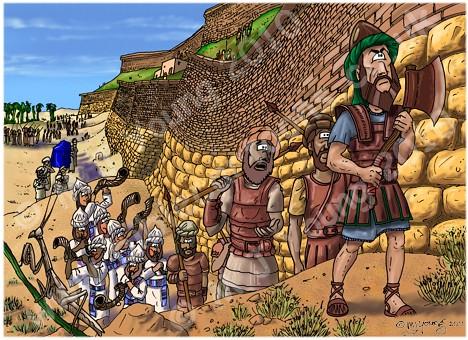 Joshua 6 - Fall of Jericho - scene 03 - Circling Jericho