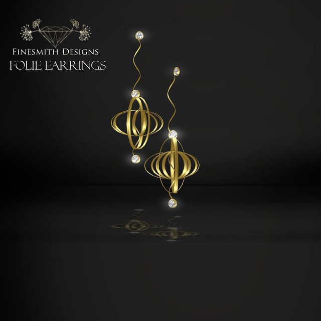 folie earrings