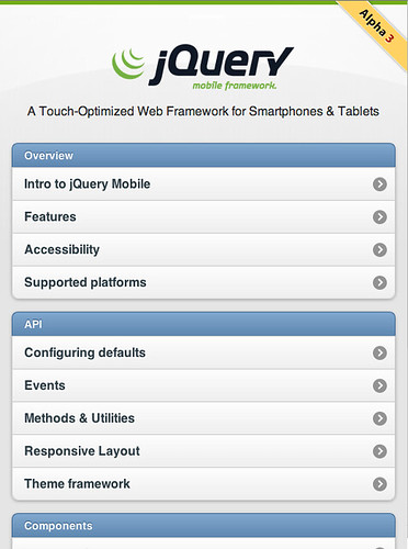 jQuery Mobile Alpha 3