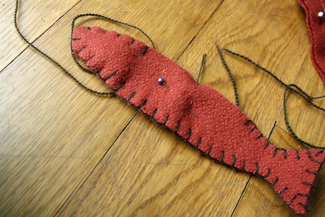 blanket stitch magnet fish