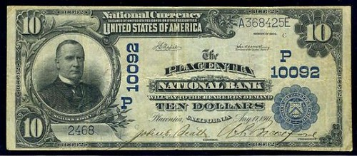 Placentia CA National Bank Note