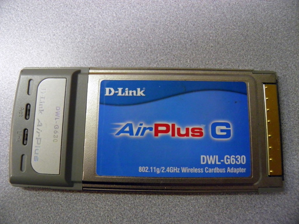 D-link Airplus G DWL-G630 802.11g/2.4GHz Wireless Cardbus Adapter