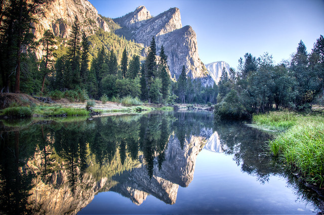 Three Brothers - Merced River - Yosemite (HDR) - Scott Loftesness