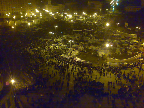 Tahrir Square in the Night