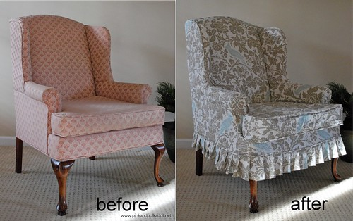Superieur Wing Chair Slipcover