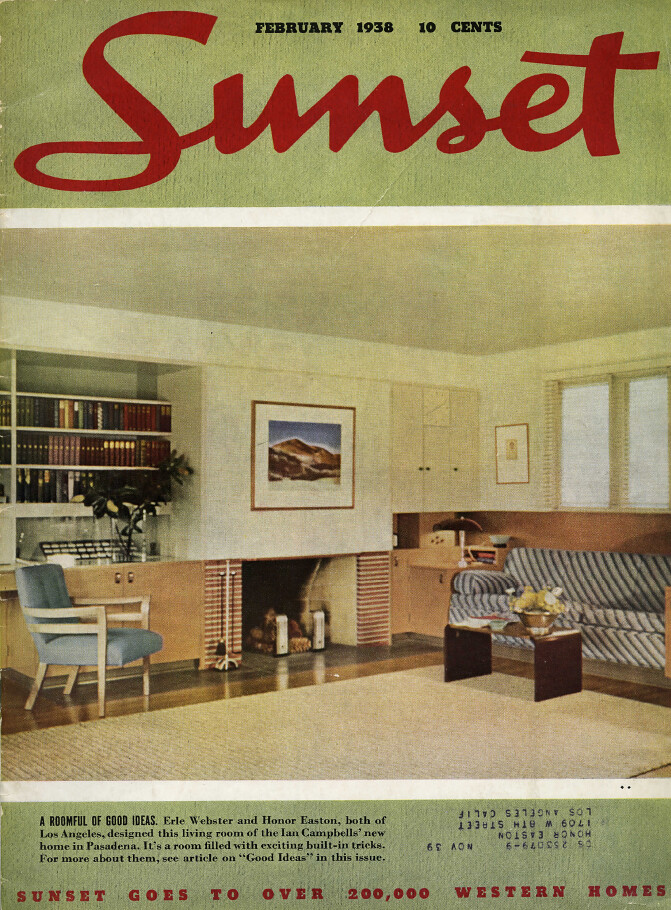 Sunset, February, 1938 - Campbell Residence Interior by Honor Easton; Webster & Wilson, architects