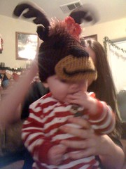 My little neice and her christmas hat