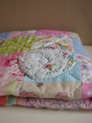 Work in progress (Roxy Creations) Tags: vintage hand quilt applique embroidered