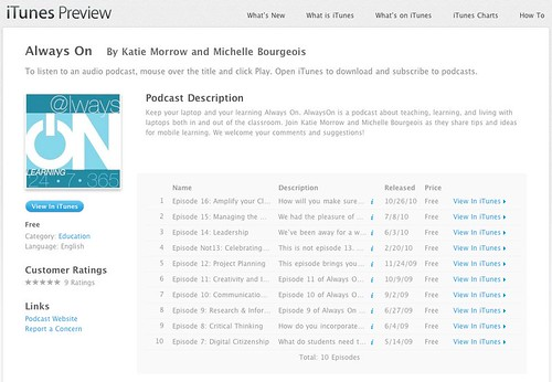 Always On - Download free podcast episodes by Katie Morrow and Michelle Bourgeois on iTunes.