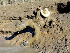 32 WS Wish had this mud slide in backyard! (Wrangswet) Tags: wet mud hiking wetlook wallow riverhike swimmingfullyclothed muddycowboy wetcowboy swimminginjeans muddycowboyboots mudwallow wetwranglerjeans muddywranglerjeans muddyswimmingfullyclothed