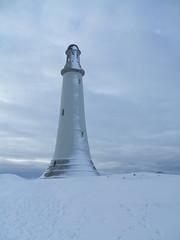 Barrow monument, Ulverston, erected 1850 (Bennydorm) Tags: hoadhill ulverston winter snow blue lighthouse monument lakedistrict england furness cumbria hoad december uk greatbritain fujifilmfinepix