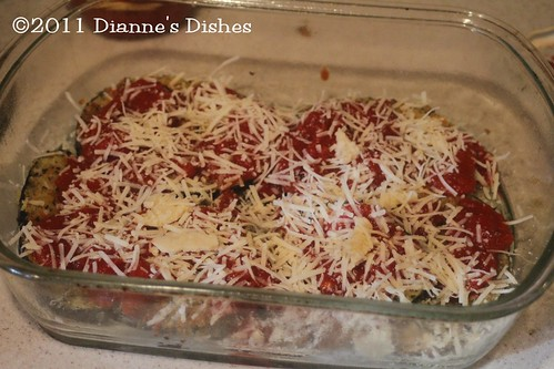 Eggplant Parmesan: First Layer