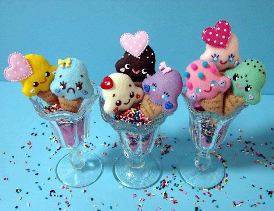 Ice Cream Pins Apple Noggin Tags Food Cute Face Happy Pin Faces Handmade
