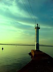IMG_7758 (unbeis) Tags: sunset sea lighthouse matsusaka