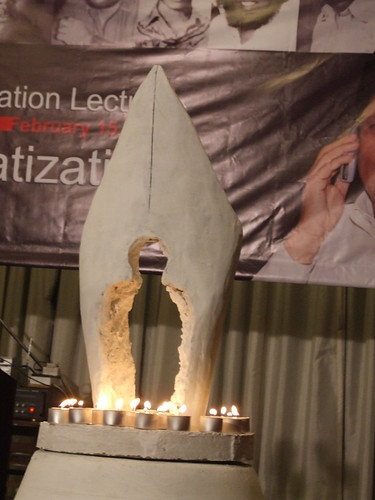 Life and Light. Candles are lit to pay tribute to journalists who sacrificed