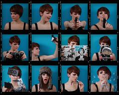 . (Paul Fenrich) Tags: blue fish eye girl hat wall wales canon magazine cards paul hope 50mm 1 photo lomo model gun shoot shot cigarette hannah bubbles smoking pack 7d skateboard sheet contact f18 wink multi ae trapper fenrich