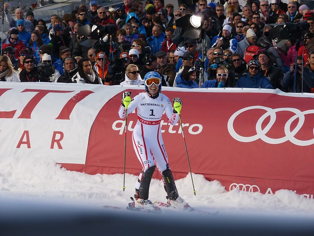 Die Weltmeisterin Marlies Schild - Slalom der Damen - Ski-WM 2011