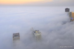 Chicago - fog or clouds? (doug.siefken) Tags: lake chicago art weather fog clouds high michigan abigfave siefken dougsiefken