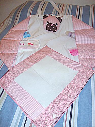 Bolsa trocador em tecidos 100% algodão