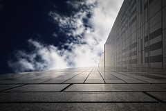 The Ethereal Corridor (Dr. Akira TAKAUE) Tags: sky cloud japan architecture skyscraper tokyo vanishingpoint nikon corridor    vanish thegalaxy    d700  platinumheartawards drgeist akiratakaue