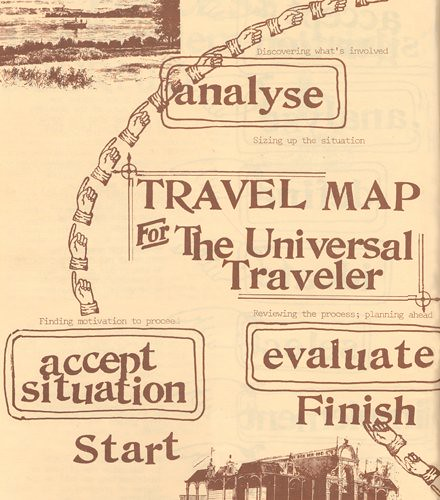 The Universal Traveler, Travel Map (detail 1)