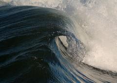 Blue Curl--Venice Beach (wademcmillan) Tags: ocean blue sea beach nature water canon coast la pier photo losangeles cool surf open pacific crystal tube barrel fast wave surfing lip venicebeach curl dogtown hollow fastshutterspeed