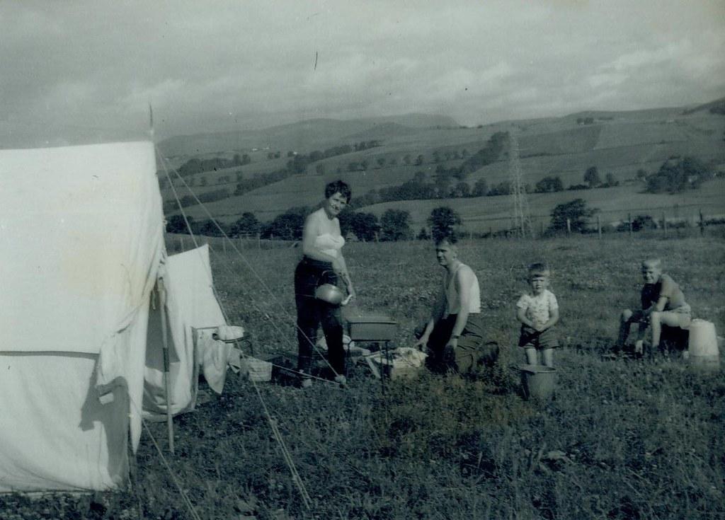 McCreath family camping 1960