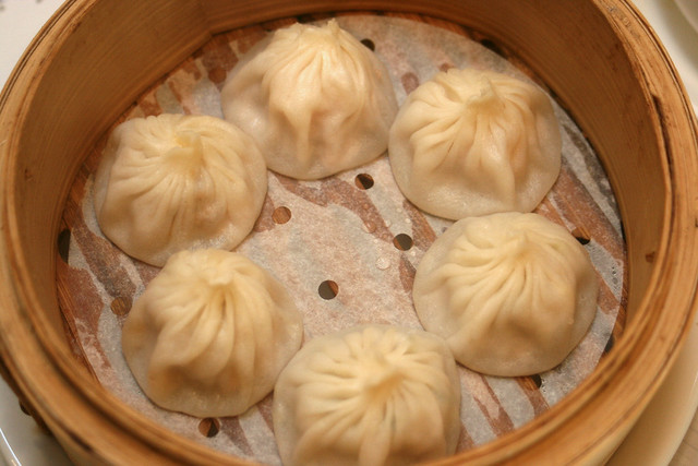 Shrimp & Pork Filling Steamed Bun ($7.80- 6 pieces)