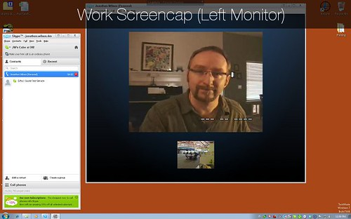 Work Screen Cap: Left Monitor