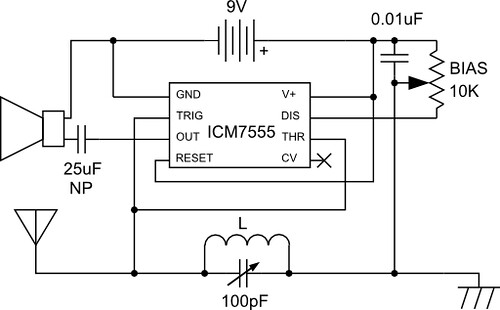 555 Radio - Schematic